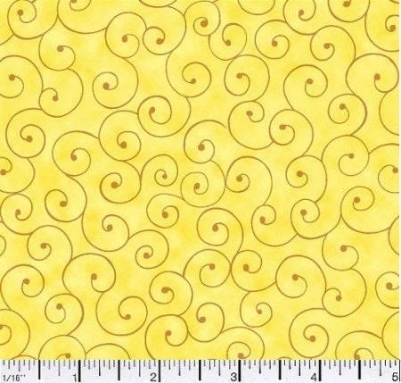 gelber stoff von der werft gelbe swirl stoff von der werft. Black Bedroom Furniture Sets. Home Design Ideas