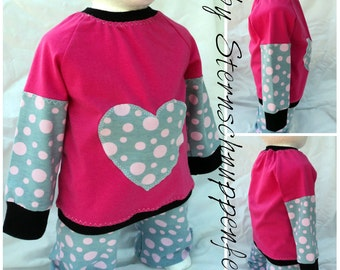 "Raglan shirt ""Love of heart of"""