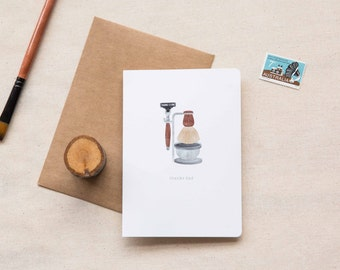 Father's Day Card   |  Vintage Shaving Kit