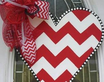 SHIPS NOW!! Valentine Heart Door Hanger *Choose your Initial Personalization*