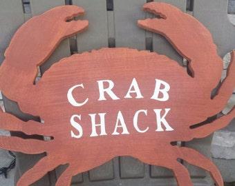 Crab Shack Wood Sign