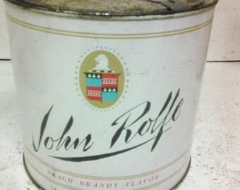 John Rolfe tobacco can