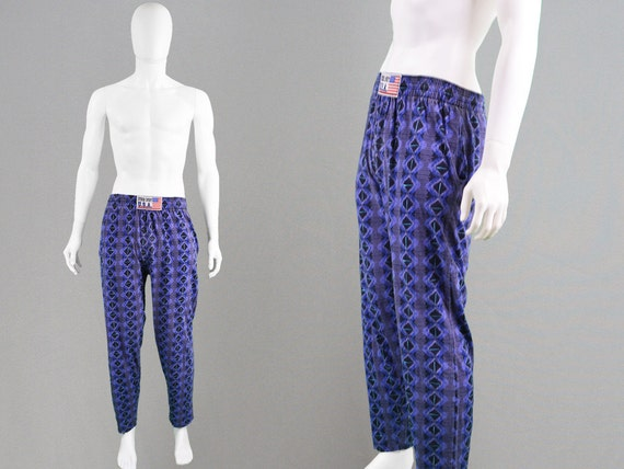 vintage 80s tribal pants mc hammer pants drop crotch jogging