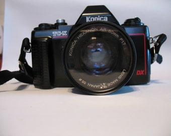 Konica TC-X DX AutoReflex Camera with Konica Hexanon AR 50mm F 1.7 Lens and TriStar 1A 50mm Filter