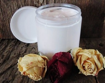 Organic Rose Whipped Body Butter for dry/aging skin types 8 oz