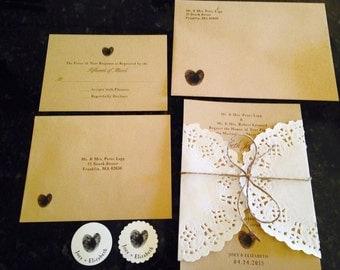 Thumbprint Love Wedding Invitation PDF ONLY