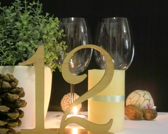 Gold Wedding Table Numbers, Wedding Table Number, Wedding Table Decor, Table Numbers, Item007