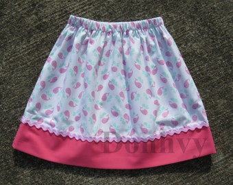 NEW Girl's Whale Skirt. Nautical Skirts for Kids. Children Skirt in All Sizes: 6 Months_8
