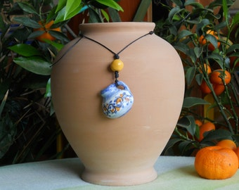 Necklace with ceramic pendant. Gift for her. Christmas gift
