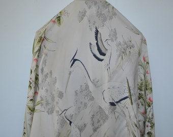 Vintage BAYRON printed silk scarf....(154)