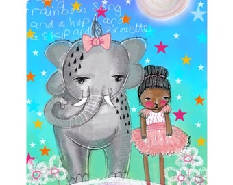Nursery Wall Art - Digital Painting -  Print - Childrens Nursery