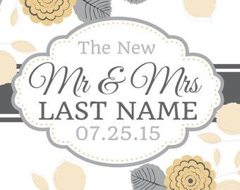 Mr. & Mrs. Custom Wedding Banner