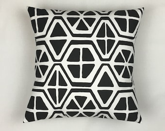 Designer Pillows - Home Decor Pillows - Decorative Pillows for Couch- Pillow Covers - Black Throw Pillows - Black Pillow Covers