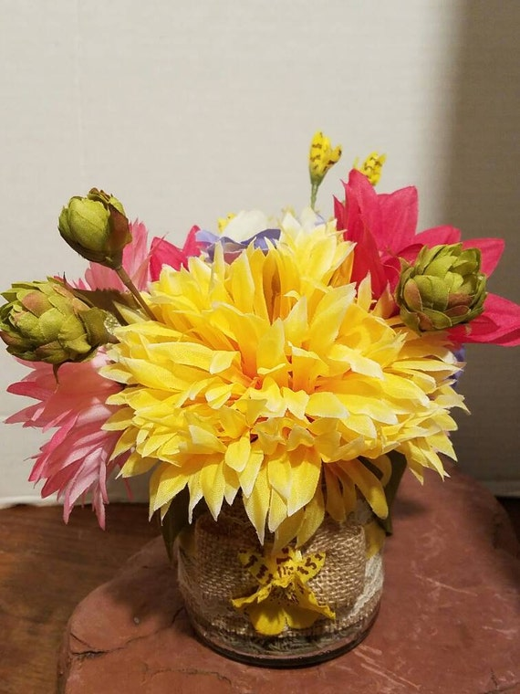 Items Similar To Silk Floral Arrangements Silk Flowers