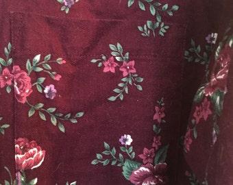 90s floral button up