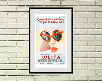 Poster reprint of the vintage movie Lolita