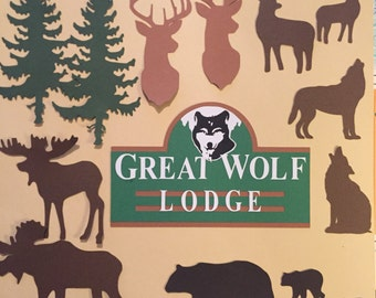 Great Wolf lodge scrapbook diecuts