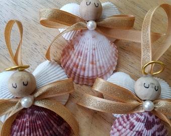 One Shell Angel Christmas Ornament