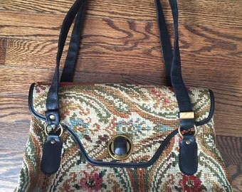 Vintage Jaclyn Carpet/Tapestry Bag