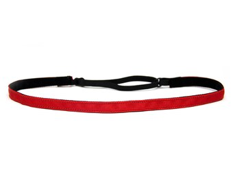 Adjustable Non-Slip Headband Thin Red