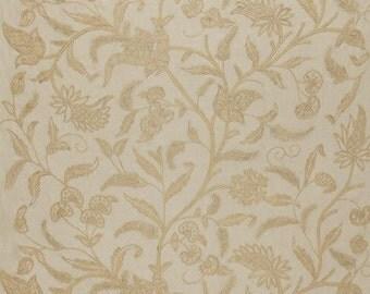 Amagansett Linen Crewel in Ecru - One Pillow