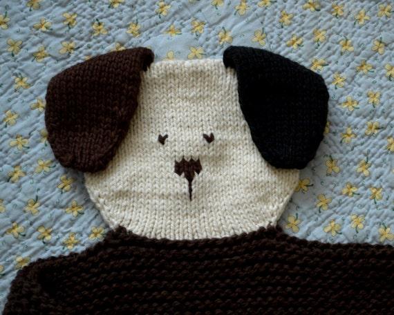 Knitting Pattern For Lovey Blanket : PDF Knitting Pattern Doggie Security blanket lovey