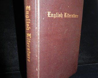 Vintage Guide Book to English Literature - Copyright 1877