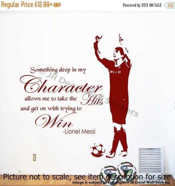 10 discount lionel messi wall quote wall sticker by jrdecal