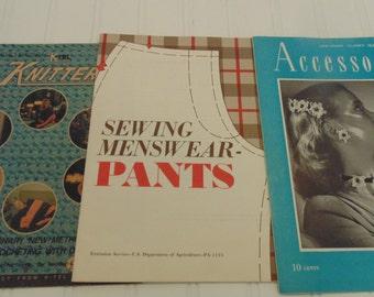 Vintage Craft Books Sewing Magazines