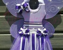 Ready to Ship Purple Tutu Bow Holder Winged Bow Holder Fairy Bow Holder Lavender Tutu Bow Holder Hospital Door Hanger Baby Announcement