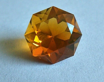 Oregon Fire Opal, 8 Sided Brilliant, Faceted Orange Gemstone, 2.76 CTW, Bright Orange Center Stone, American Fire Opal