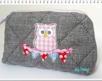 Cosmetics bag OWL tree necklace