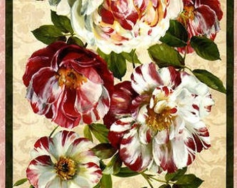 Scentimental floral  Quilt Panel by Wilmington fabric - Quilt Kit 100% Cotton