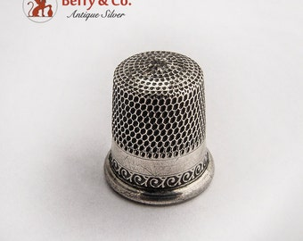 Vintage Thimble Sterling Silver 1890