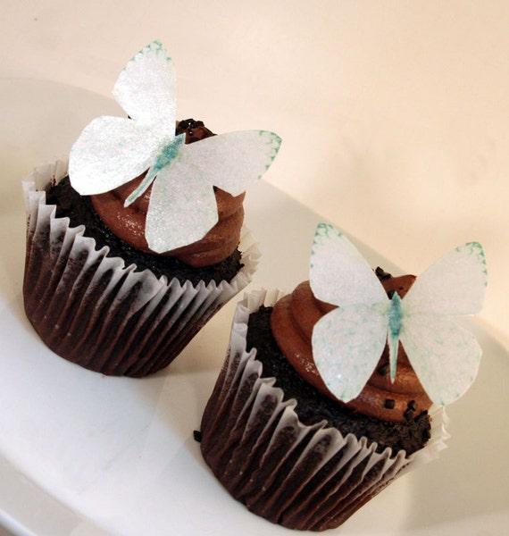 papillon comestible gâteau décorations perle papillons blancs