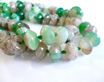 Green Agate Beads_CP04502496310_GEMS_Stripped Agate of 10x14 hole 1 mm_Strand 35 bead