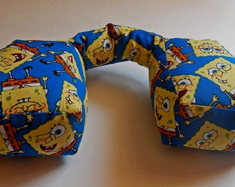 Brand New Design. NECK PILLOW for Adults for traveling very comfortable in the car  or airplane with Sponge Bob on it.
