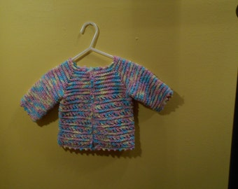 Girls Handmade Sweater and Hat Crochet
