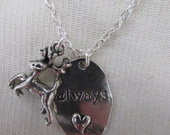 Harry Potter ALWAYS Necklace with deer
