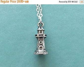 SALE Lighthouse Necklace, Nautical, Sailor, Beacon