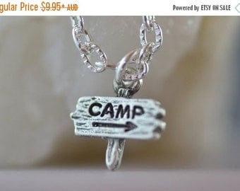 SALE Camp Necklace, NC007, Scouts, Percy Jackson, Camping, Tent, Girl Guide