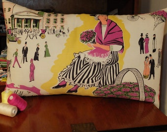 Vintage 'My Fair Lady' Tea Towel Cushion