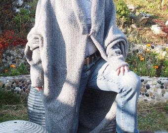 Long Dolman Cardigan Long Version Knitted Cardigan with Hood & Nara GIL025