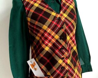 1960s - Bobbie Brooks, USA - Dress Vest/Waistcoat  (S Fit)
