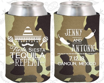 Camouflage Wedding, Can Coolers, Camouflage Wedding Favors, Camouflage Wedding Gift, Camouflage Party Decor (469)