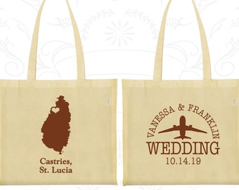 St Lucia Tote Bags, St Lucia Wedding, Customized Cotton Canvas Tote, Destination Wedding Bags, Tote Bags, Castries Tote Bags (193)