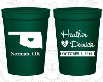 Oklahoma Wedding Cups, Oklahoma Stadium Cups, Oklahoma Plastic Cups, Oklahoma Cups, Oklahoma Party Cups (135)