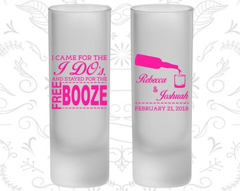 I came for the I do and stayed for the Free Booze, Frosted Tall Shot Glasses, Beer Bottle, Rehearsal Dinner (370)
