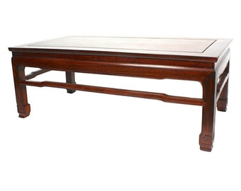 1940s SuanZhi Kang-Style Coffee Table - Blackwood Chinese Rosewood