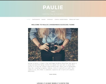 Paulie- WordPress Themes for blogger Lifestyle